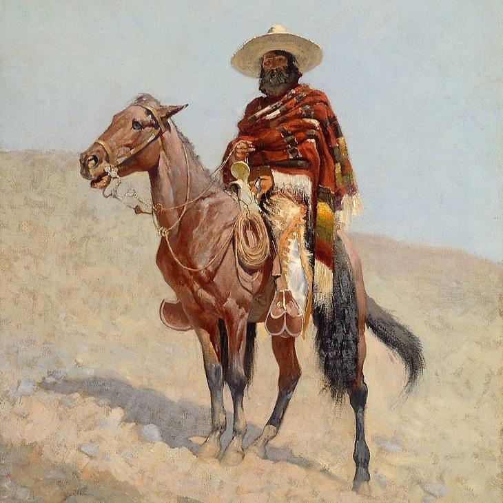 """""""A Mexican Vaquero"""" by Frederic Remington"""