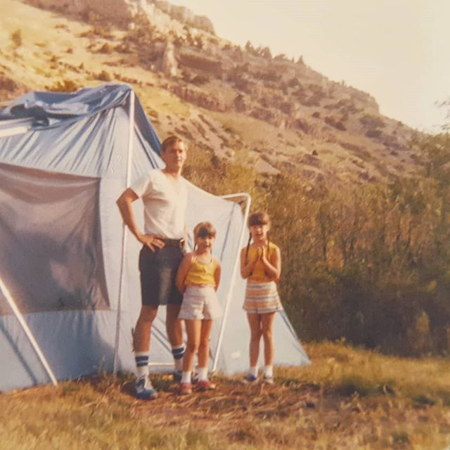 Circa late 1970s. The beginning of my lifelong love of camping. Except back then, I didn't entirely love it. I was scared of bears. I missed my stuffed animals back at home. And my dad cussed the tent up and down every single time he pitched it. . Even so, I have fond memories of evenings around the campfire. The feeling of cozzying up in my sleeping bag at night. The sound of my mom's voice reading books aloud as I drifted into sleep. The funny patterns the light of daybreak through trees makes on a tent's roof. . As we head out on our third camping trip of the summer, I can't help but wonder how Mag will remember these trips one day. . Are you a camping family? What are your fondest camping memories? . . . #traveltuesday #outfam #mkbkids #childhoodunplugged