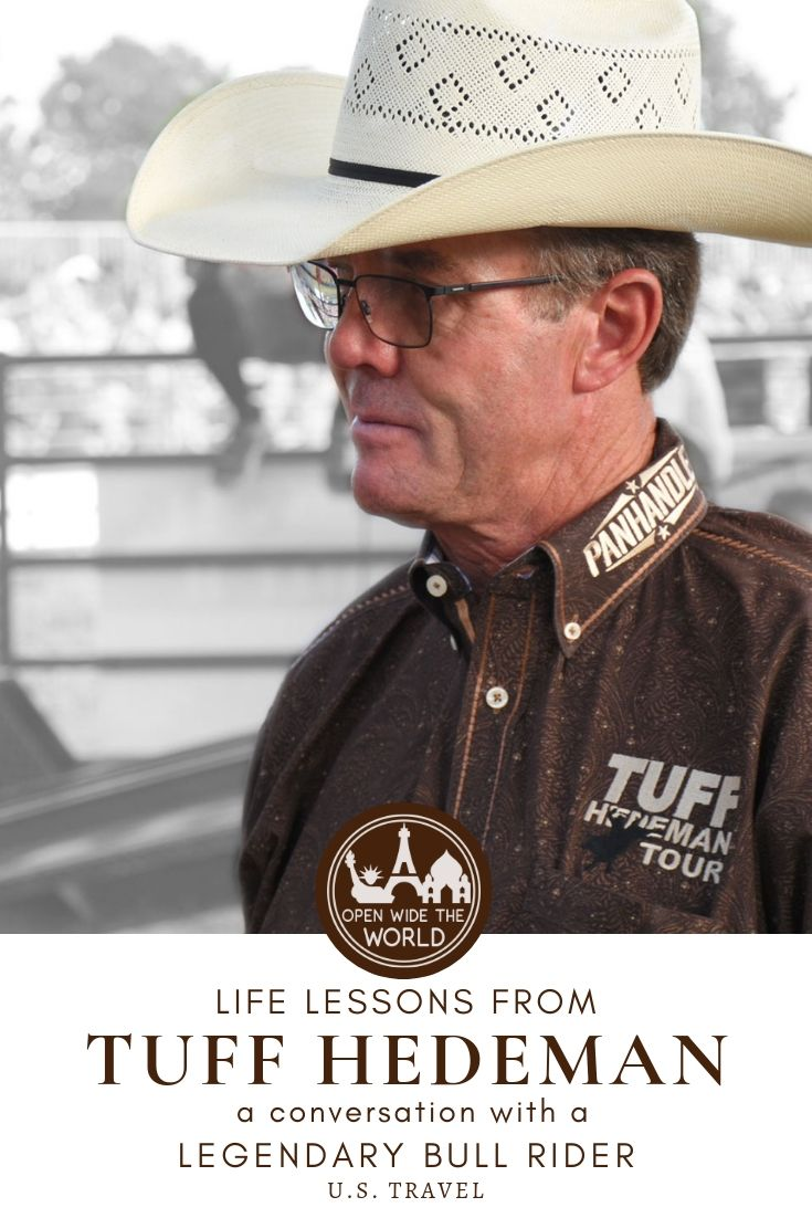 Four-time World Champion bull rider and Pro Rodeo Hall of Famer Tuff Hedeman made a nearby stop on his bull riding tour. He shared some advice with us that's as good out of the bull riding arena as it is in! #tuffhedeman #openwidetheworld