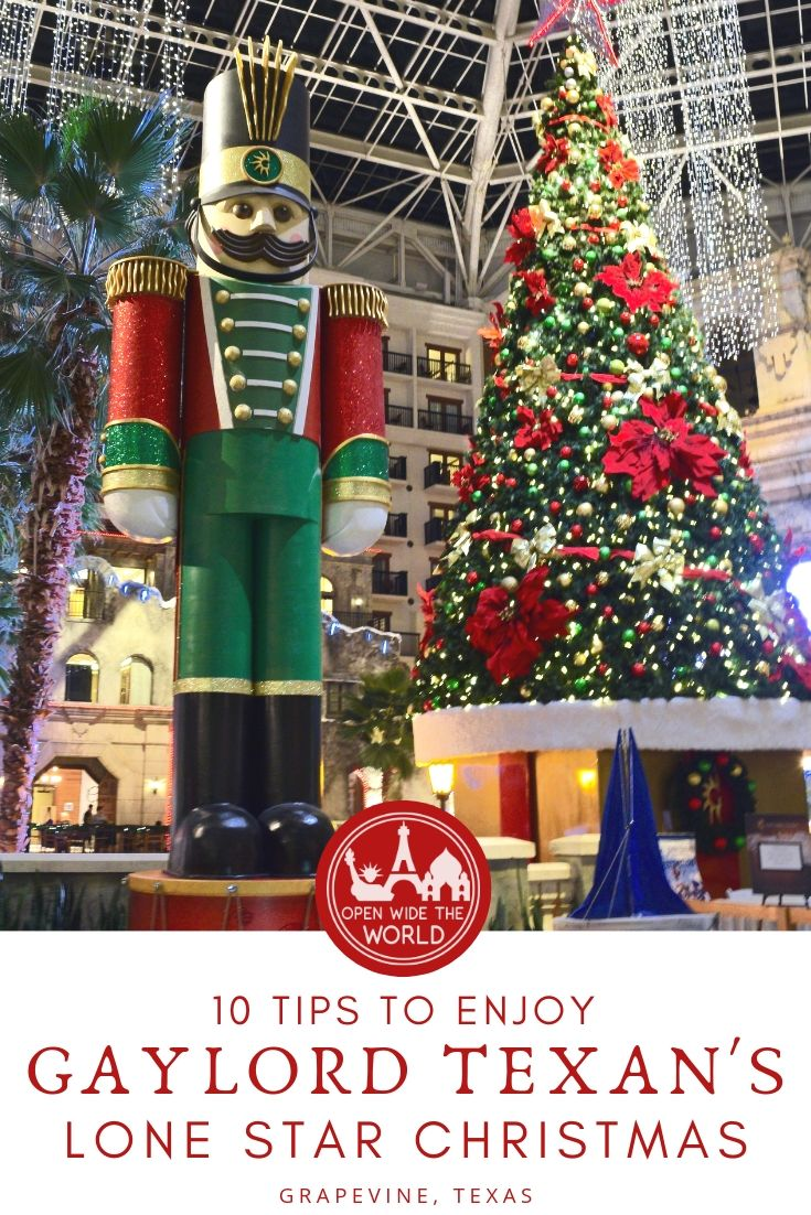 "From touring ""ICE!"" to snow tubing and having milk and cookies with Mrs. Claus, plus all the holiday activities in between. Everything you need to know to plan your family's trip to ""Lone Star Christmas"" at Marriott's Gaylord Texan Resort in Grapevine, Texas! #lonestarchristmas #openwidetheworld"