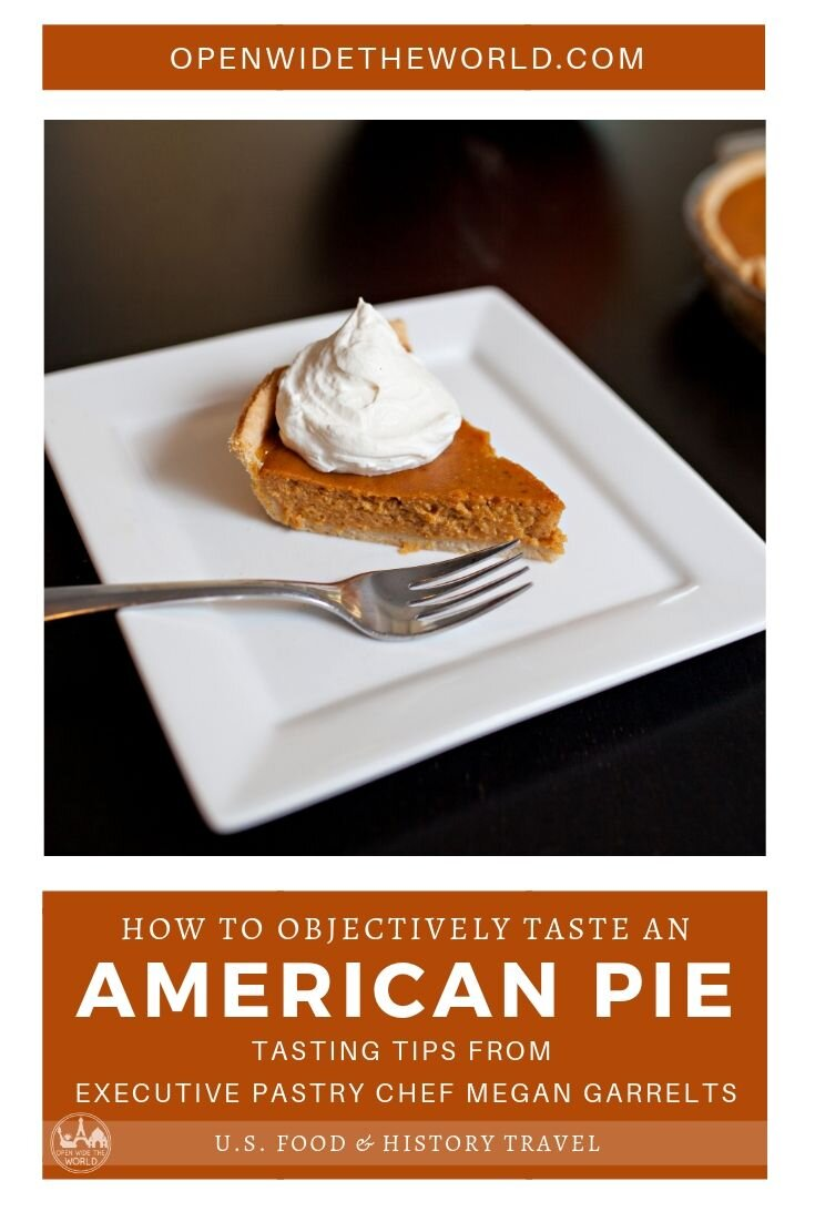 Apple pie. Cherry pie. Pumpkin pie. Pecan pie. To fully appreciate pies as the centerpiece of Americana, the technicalities of pie filling and pie crust must be understood.  Executive Pastry Chef Megan Garrelts shares how to analyze pie recipes, taste and texture to truly understand what makes a perfect slice of American Pie. #pie #openwidetheworld