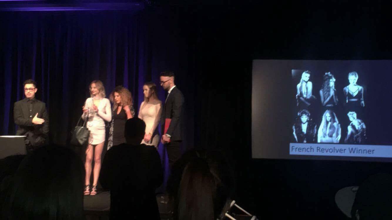 Brad, Kazia, Sian, Charlie & Josh accepting the award!