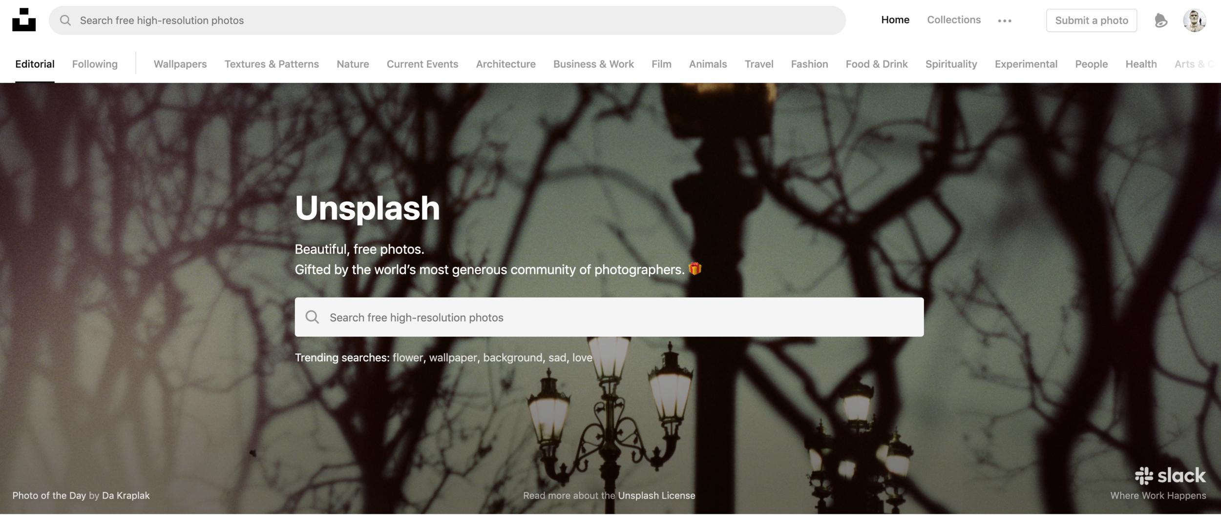 Unsplash.com Home Page.png