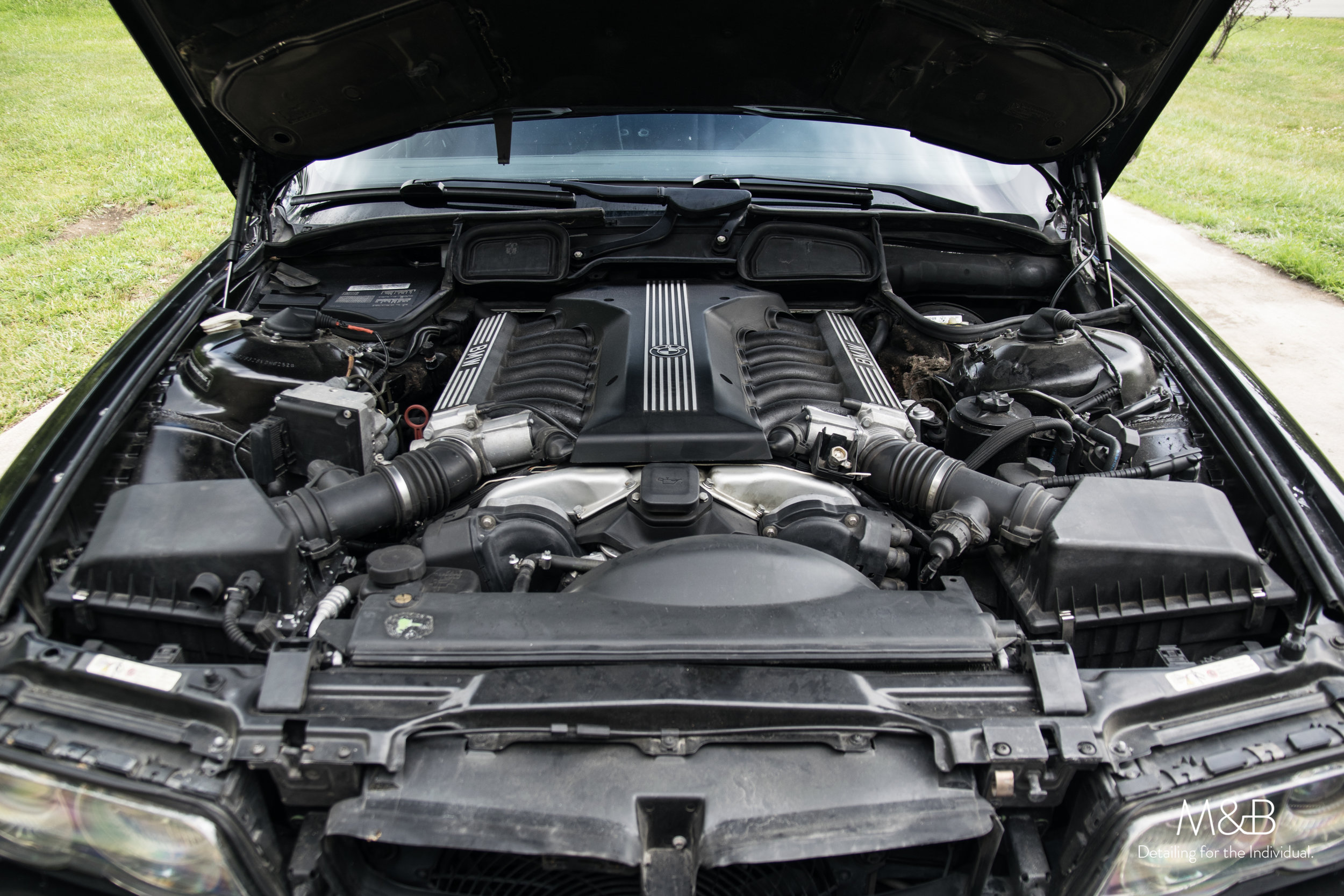Not awful, but not good enough. Take a walk with us as we get this engine bay clean!