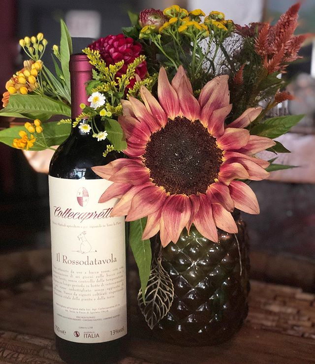 We will be open today at 4:00pm!  Stop in tonight to try a taste of what is to come on our new menu! This Italian Sangiovese will pair perfectly with today's sunshine. 🌞🍷 Live music starting at 6:30pm until 11:00pm.
