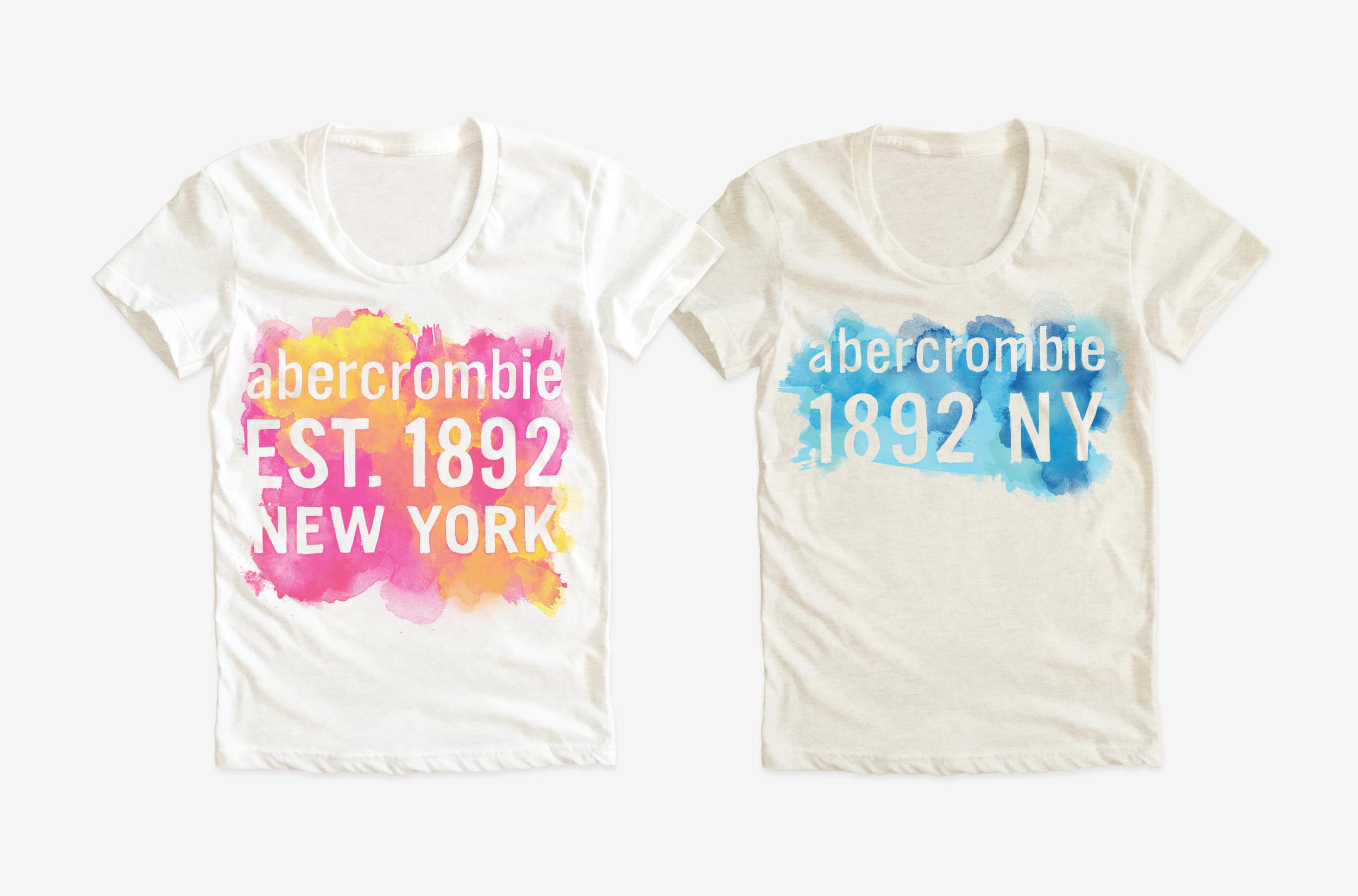 ABERCROMBIE KIDS / Girls t-shirt graphics