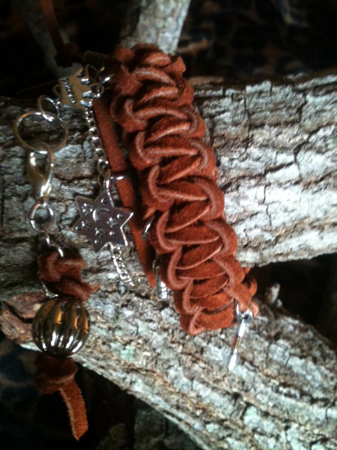 3 x wrap brown sueded charm bracelet 4.jpg