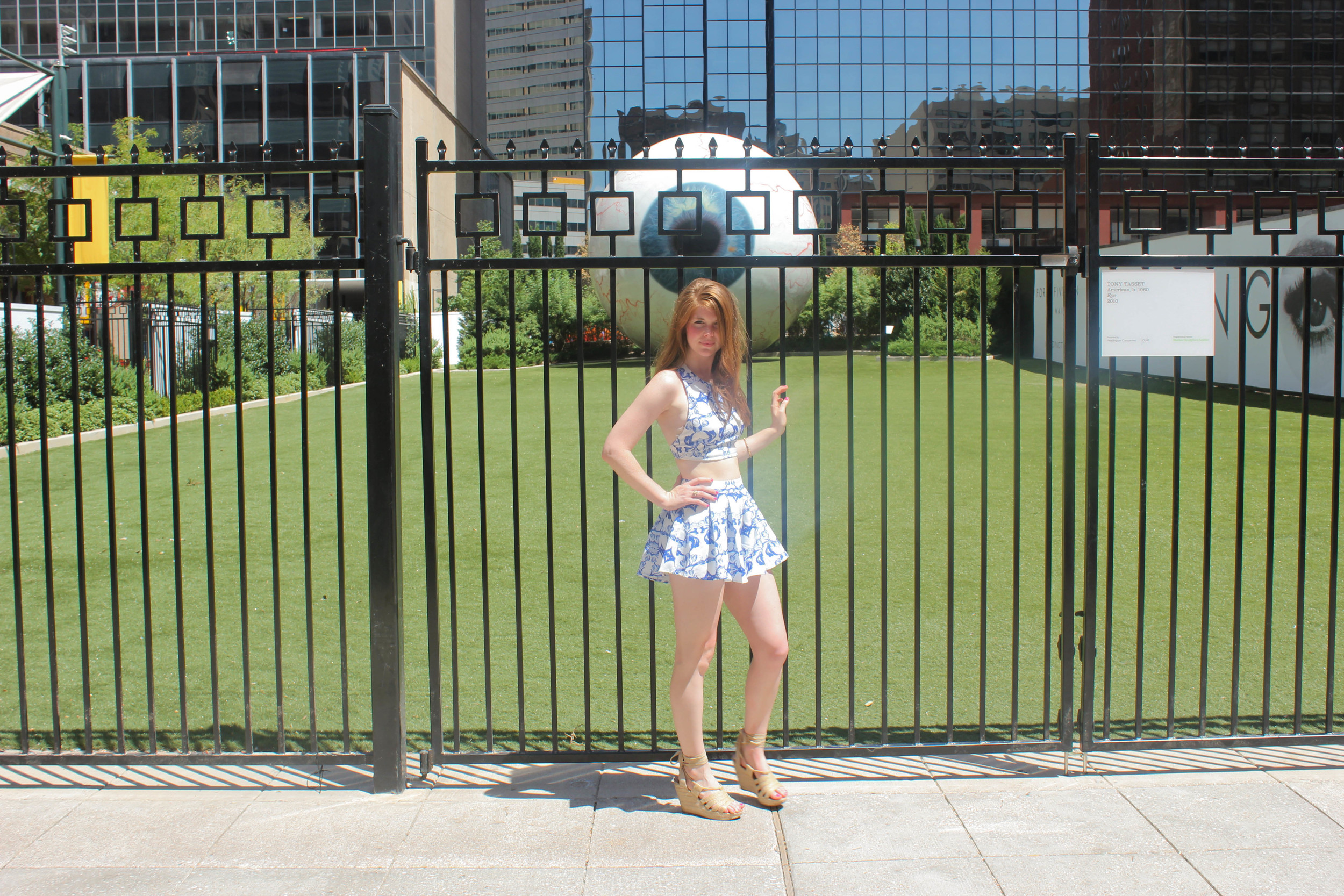 Blue Green Twin Set | Places to eat in Downtown Dallas | Southern Elle Style | Dallas Fashion Blogger