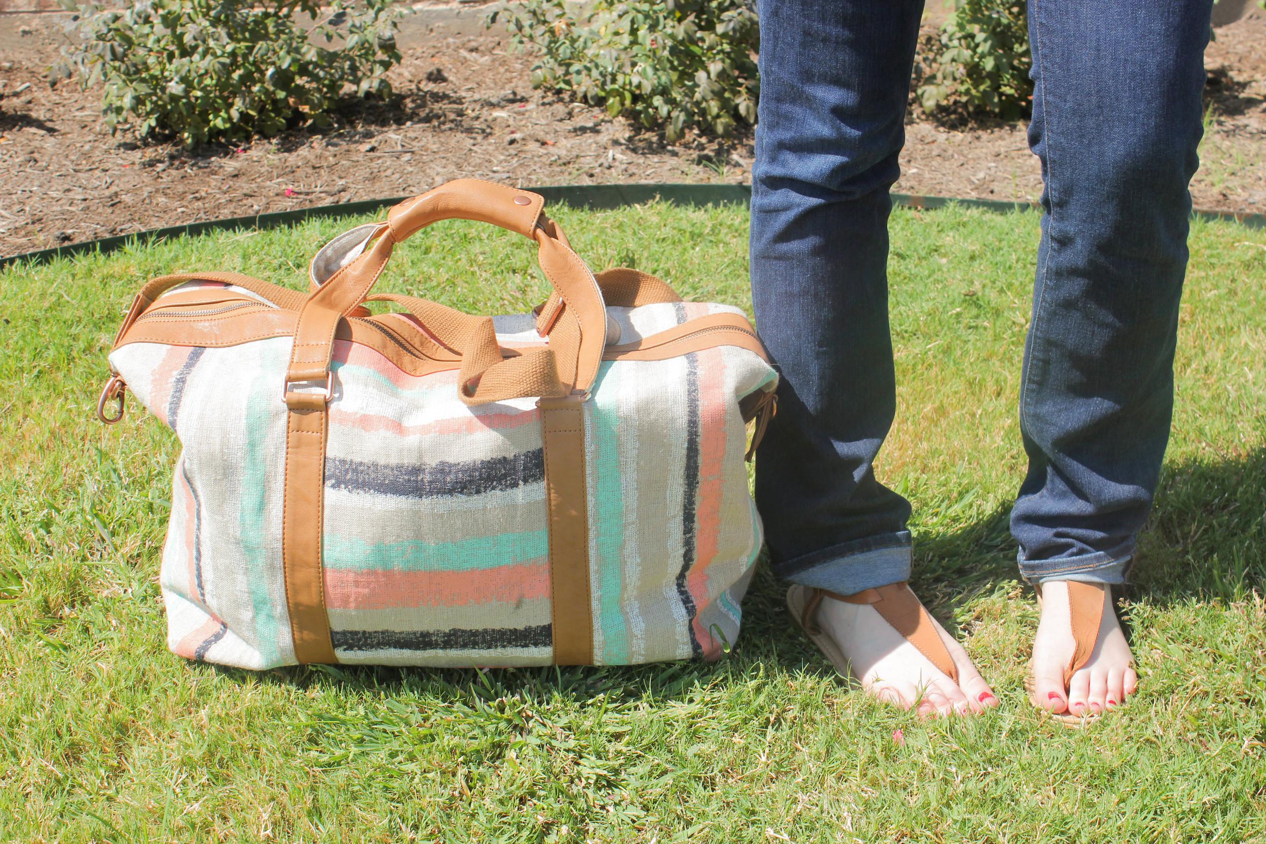 anthropolige bag, j brand jeans