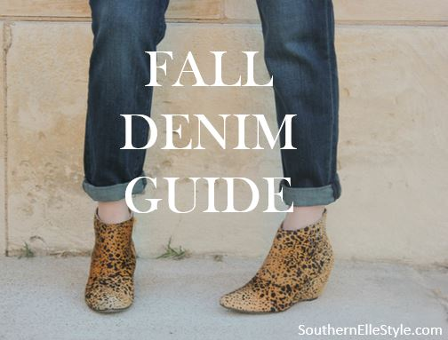 Fall Denim Guide | Southern Elle Style | Dallas Fashion Blogger