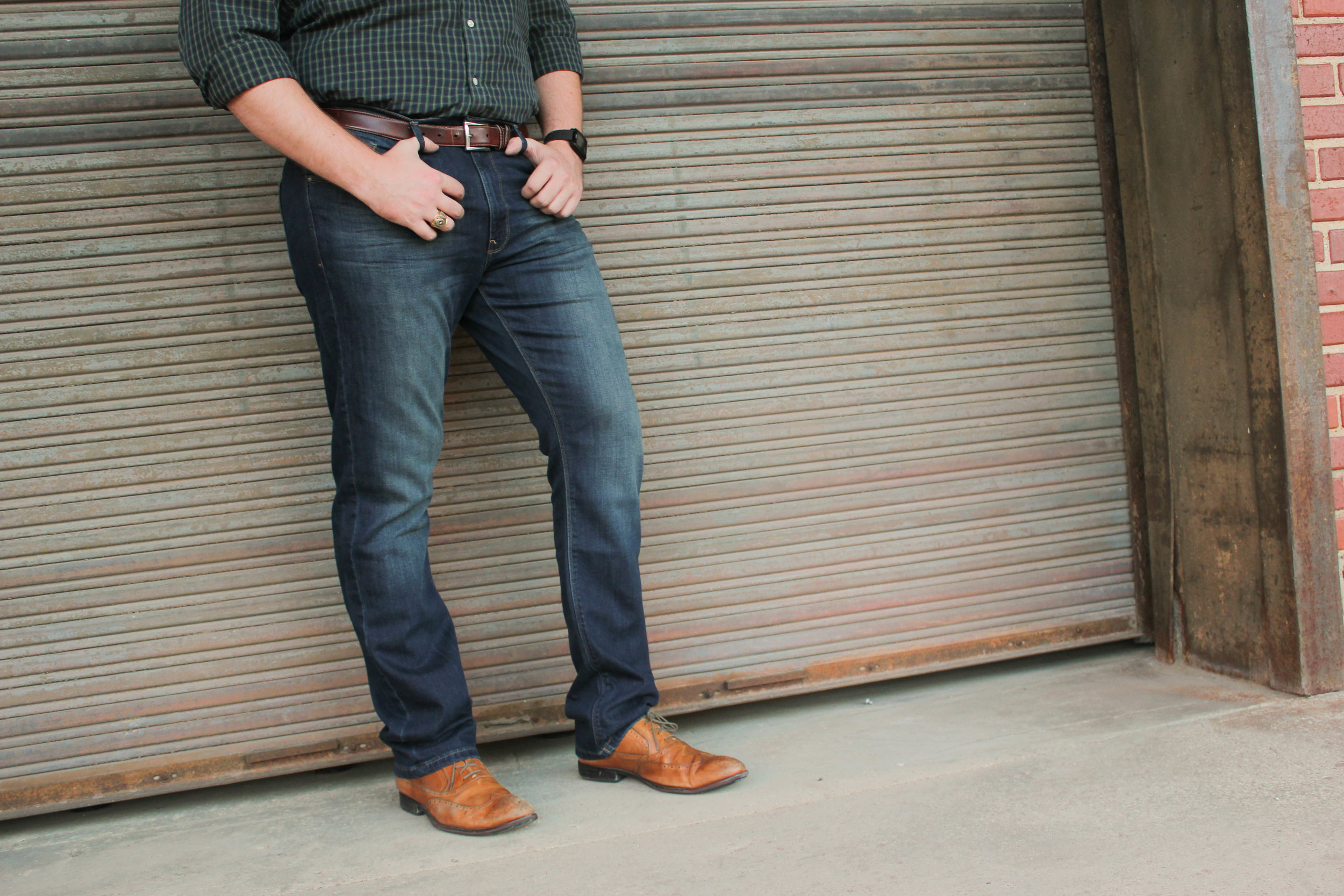 DL1961 Russell Slim Straight Mens Jeans in Norman