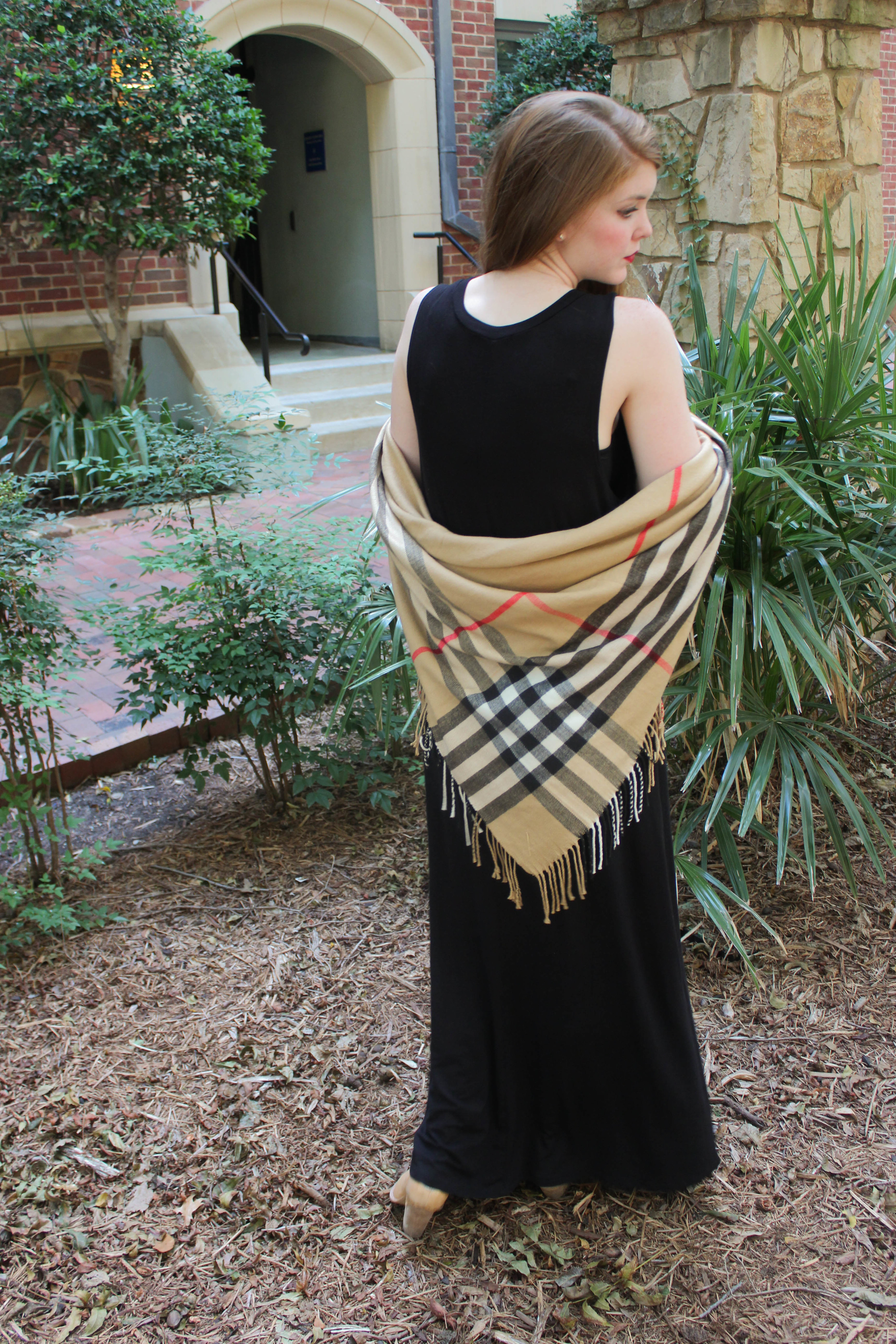 how to style a blanket scarf