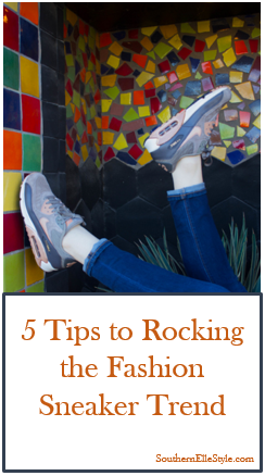 5 tips to rocking the fashion sneaker trend, southern elle style