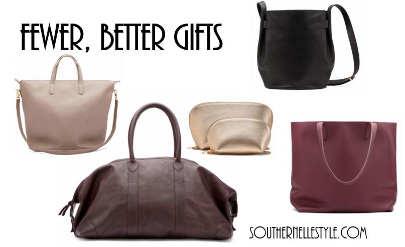 fewer, better gifts, cuyana