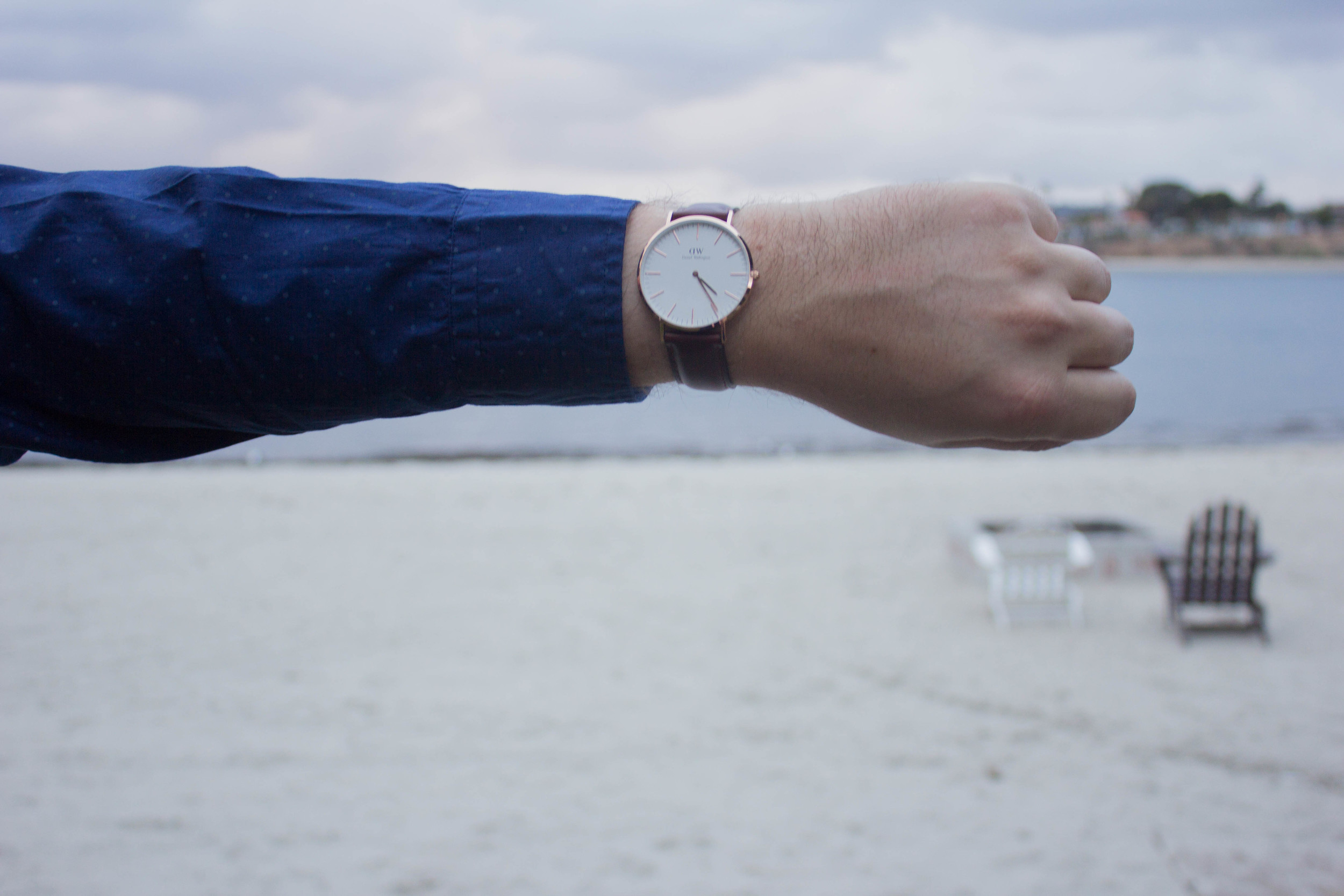 daniel wellington watch, dl1961 russell jeans, cole haan oxfords
