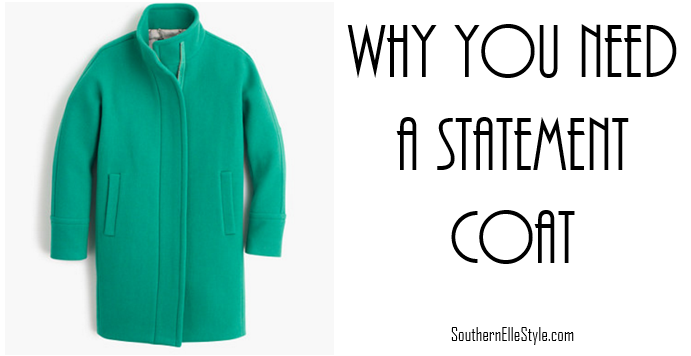 why you need a statement coat, j crew jacket