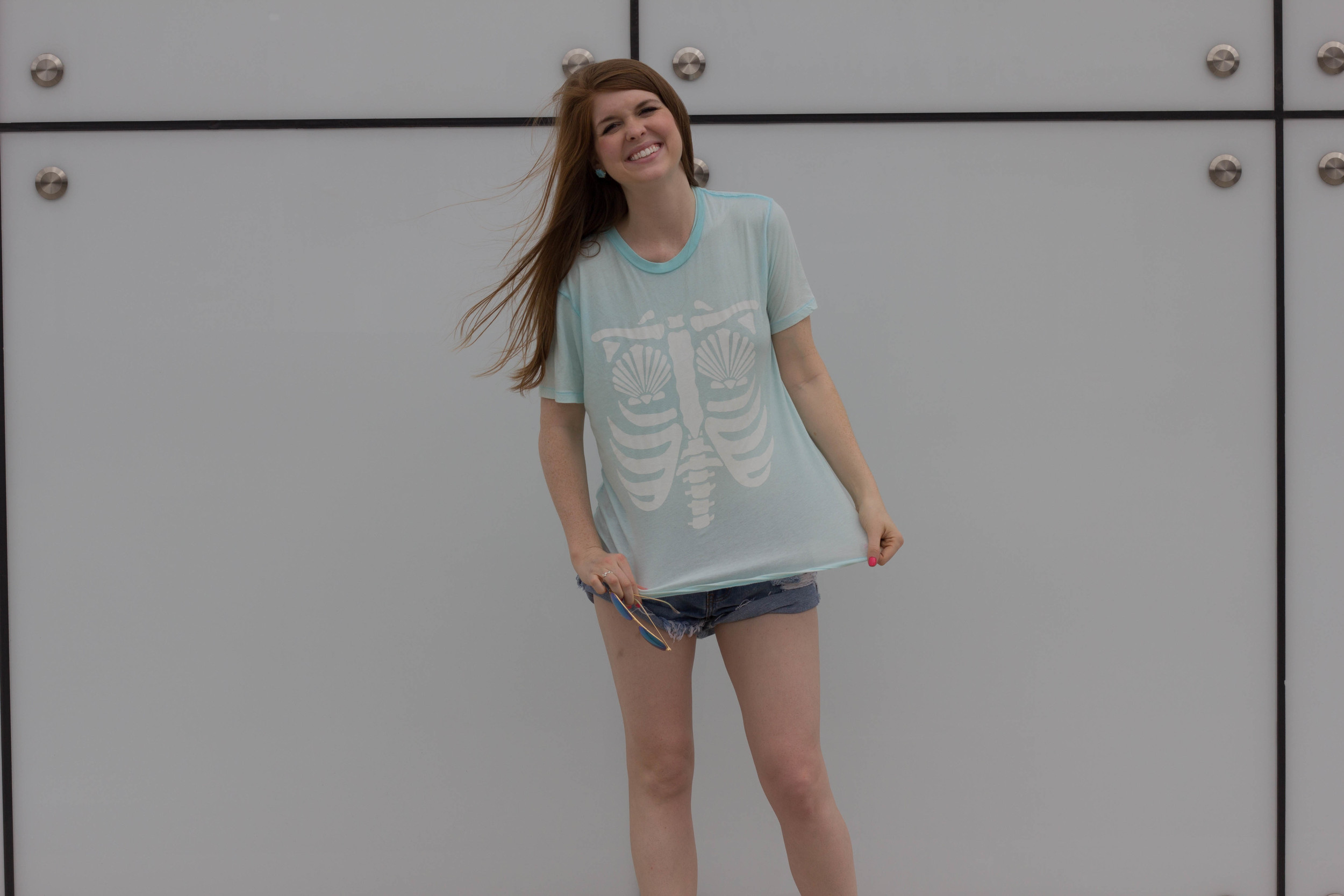 mermaid x-ray, wildfox vintage tee, shopriffraf, one teaspoon shorts