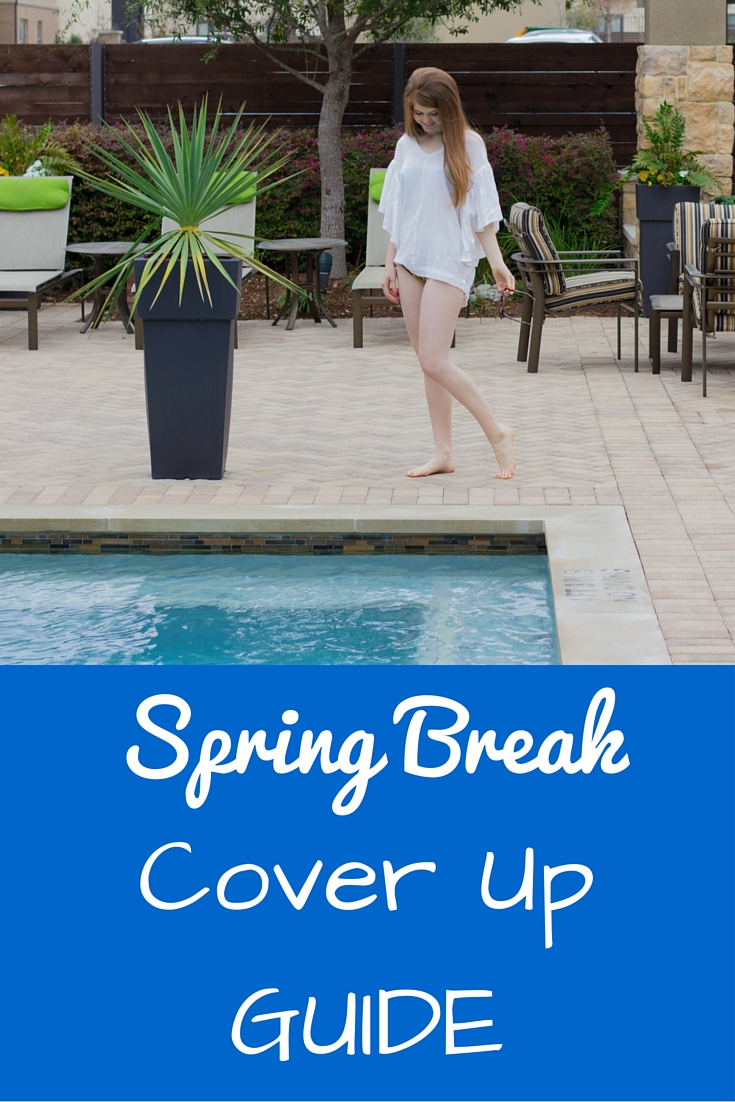 spring break cover up guide, poolside, triangl bikini,