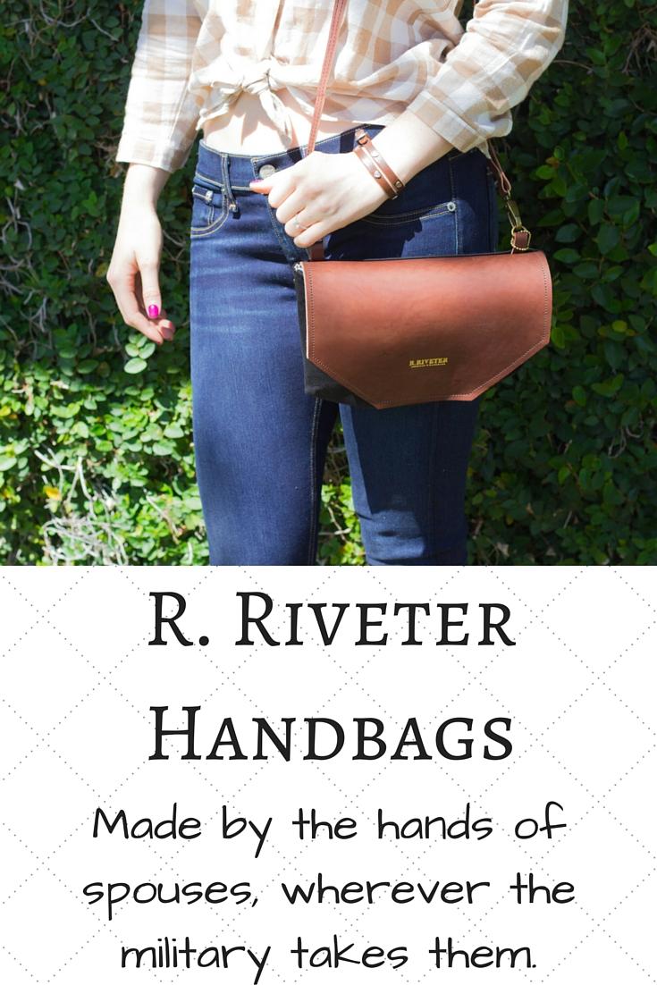 r. riveter handbags, military wife, spouse, handmade, purses, made in the usa, leather, shark tank