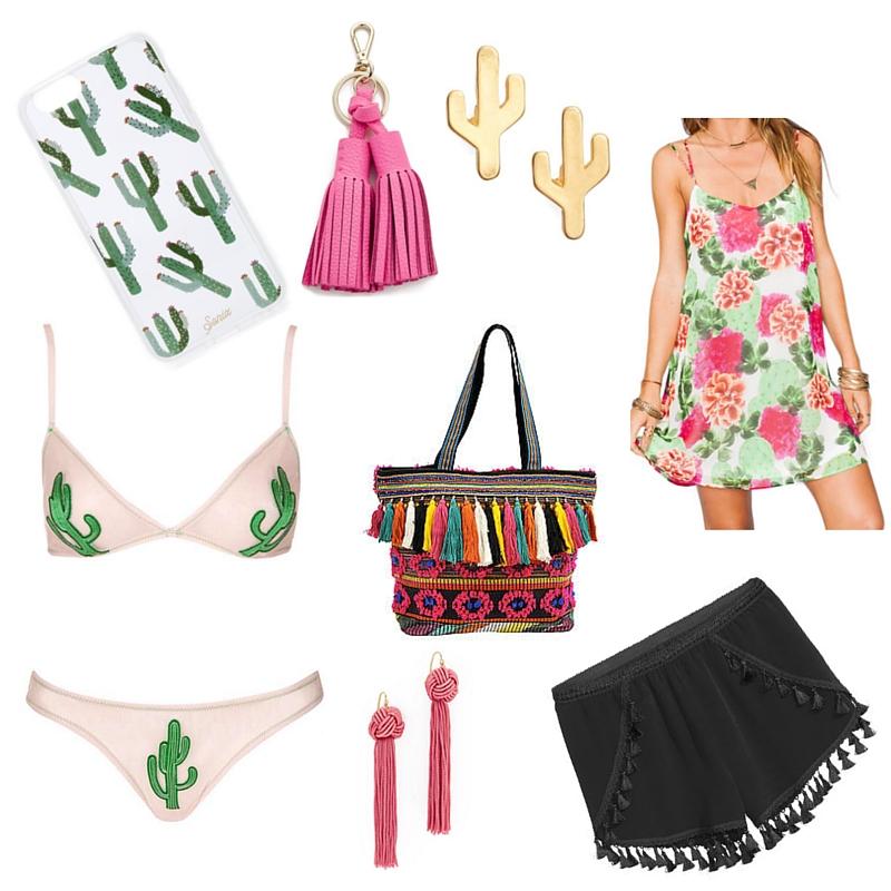 cactus and tassel trends, spring trends, shopbop, sonix cactus phone case, tassel shorts