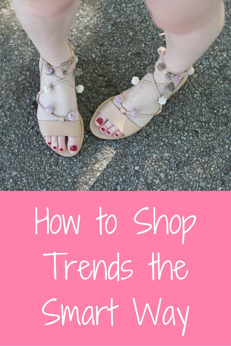 how to shop trends the smart way, pom pom lace up sandals, loeffler randall saskia sandal