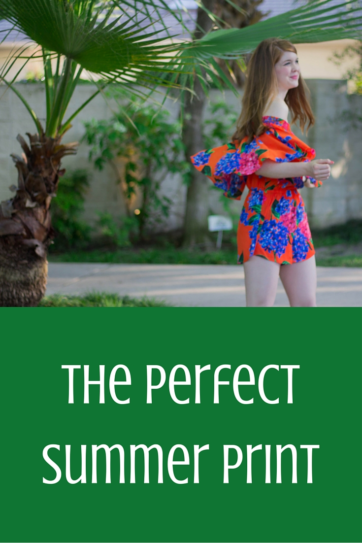 the perfect summer print, show me your mumu bahama bloom, floral off the shoulder romper