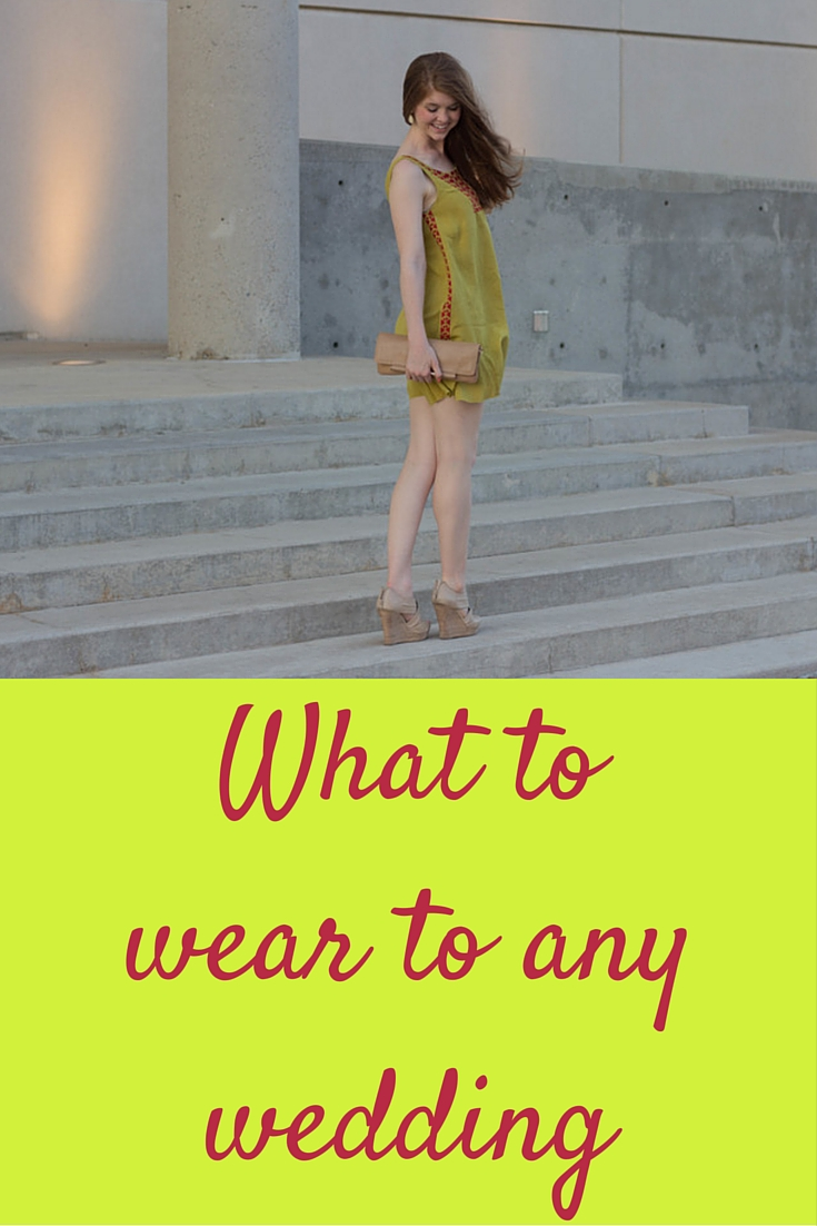 what to wear to any wedding, wedding guest attire guide, outfit ideas for a wedding