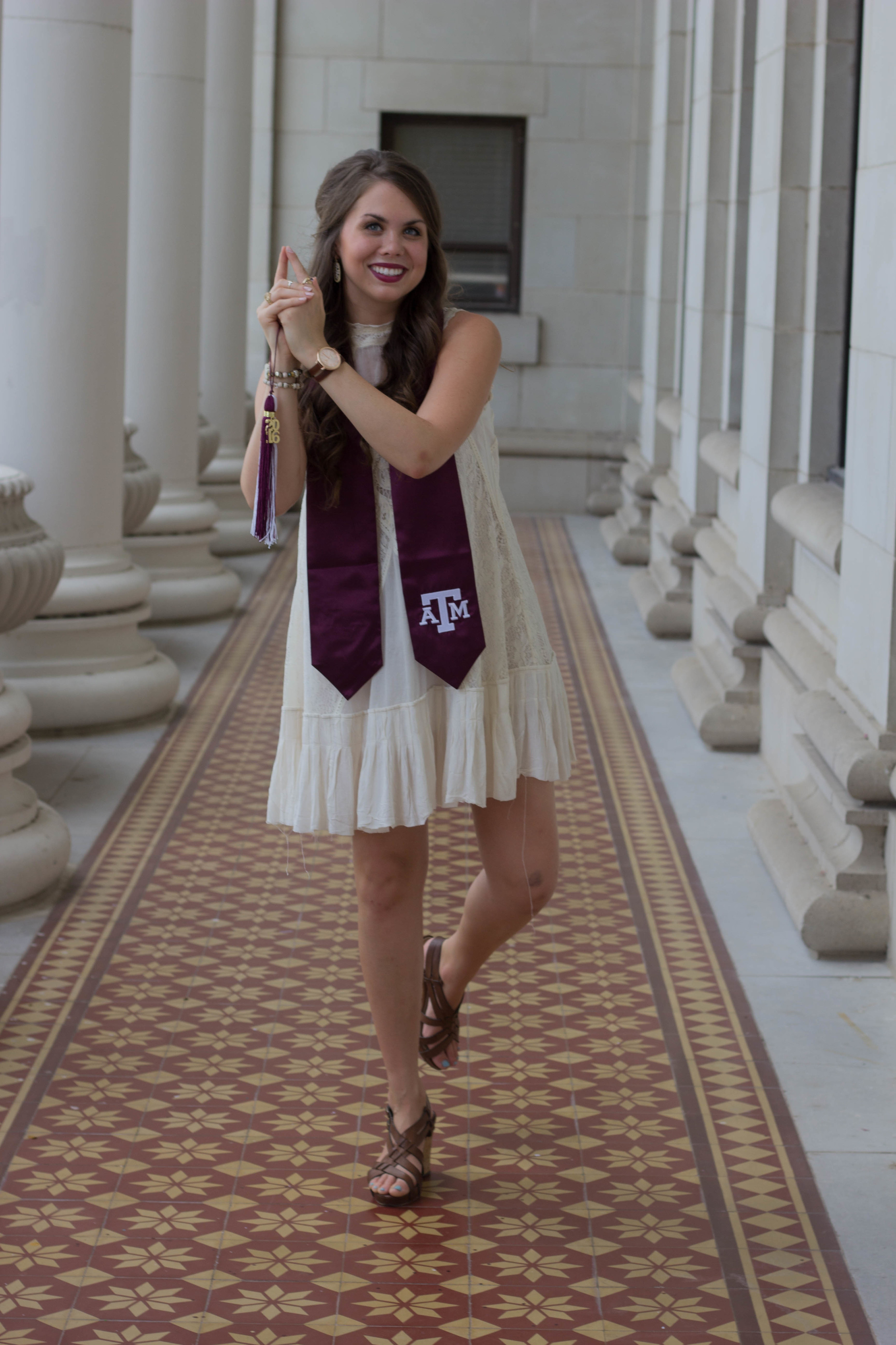 free people lace swing dress, college station, things to do in college station bryan, kendra scott earrings, hullabaloo, aggies