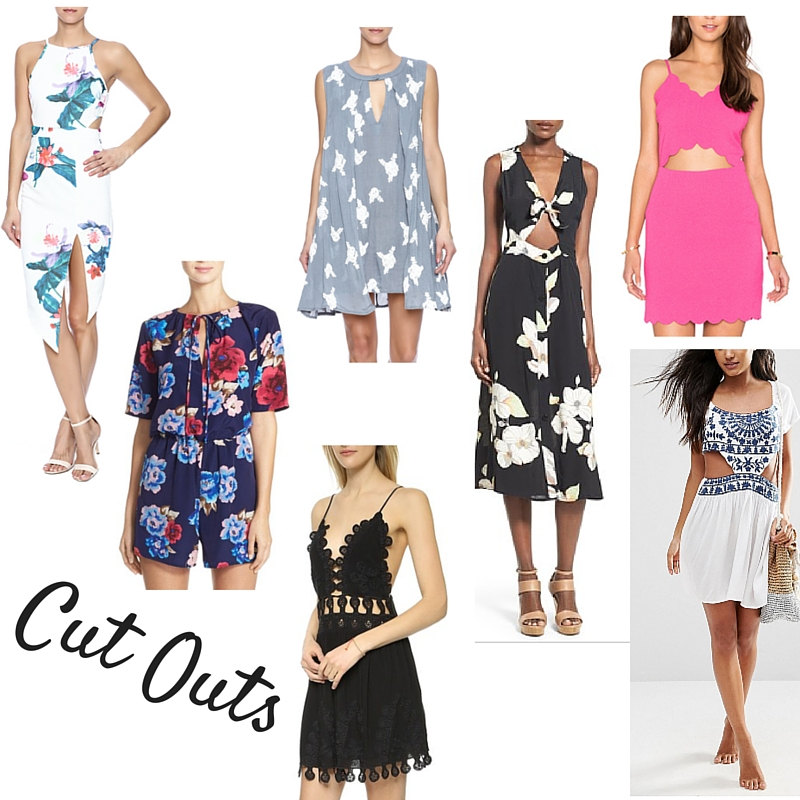 nordstrom cut out dresses, summer style.