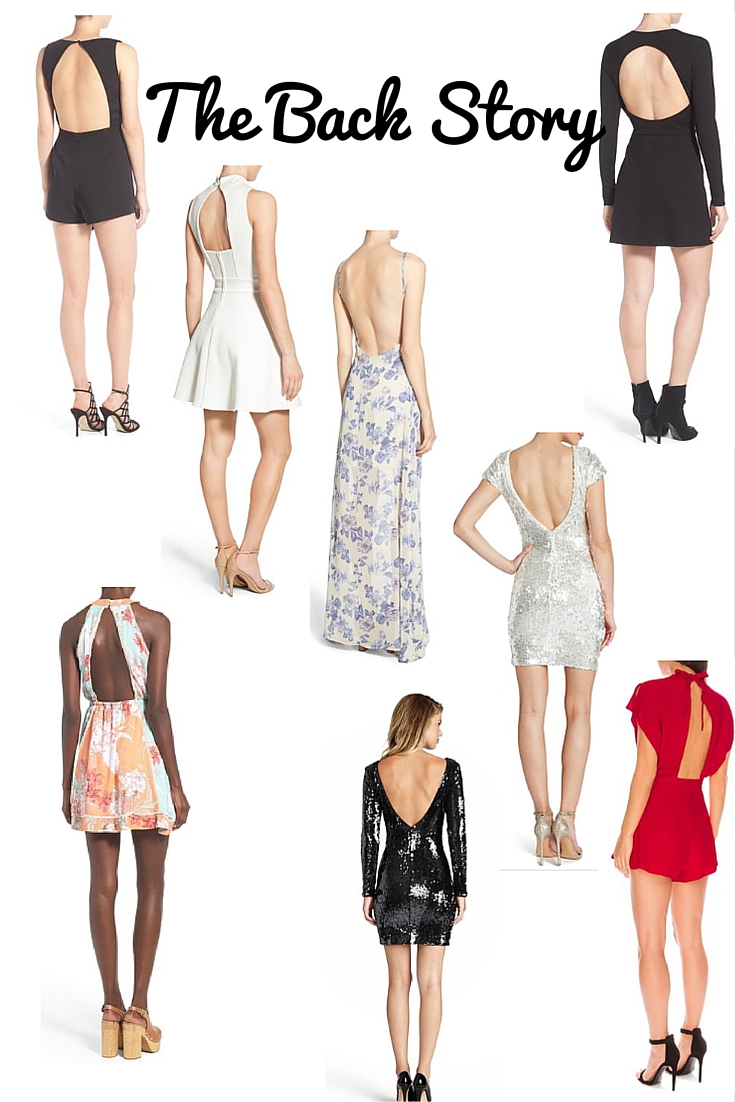 the back story, backless dresses, backless rompers, nordstrom