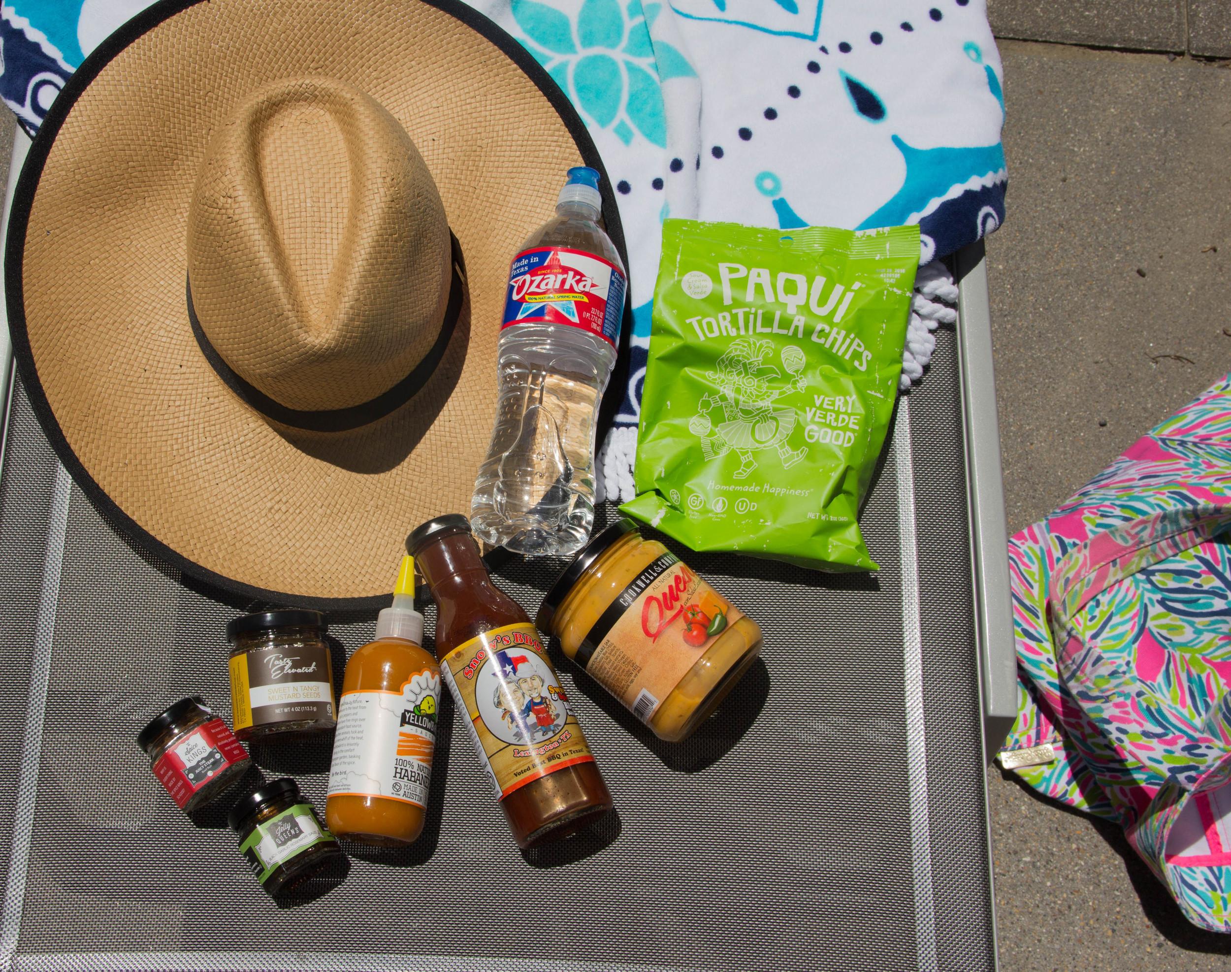 ozara, texas, for here by here, karen walker dupes, target bikini, pool day