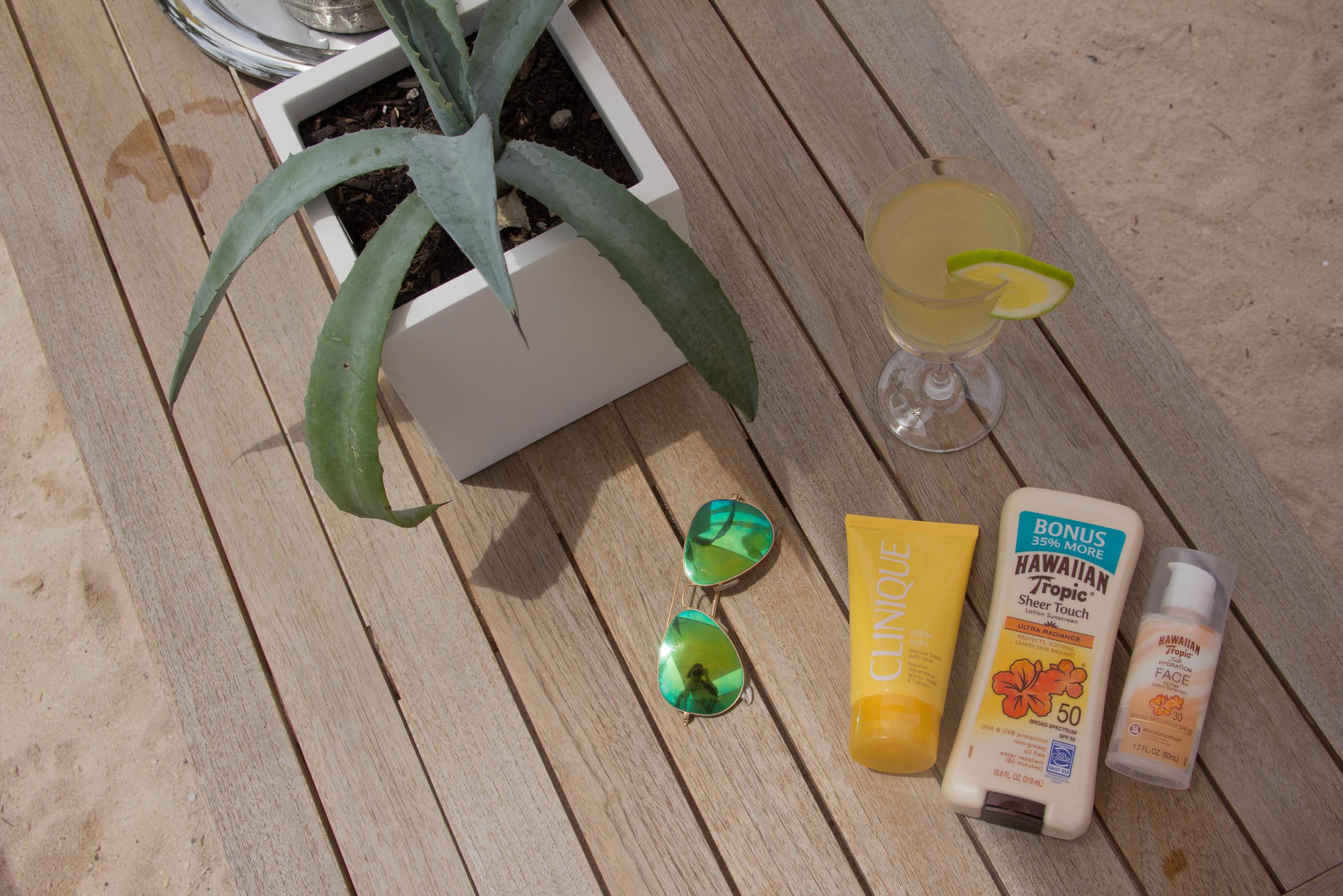 le soleil d'or, cayman brac, grand cayman islands, caribbean islands, vacation, farm, fresh, organic, mimosas, beach, bcbg panama hat, all for color pineapple bikini, rayban mirrored aviators