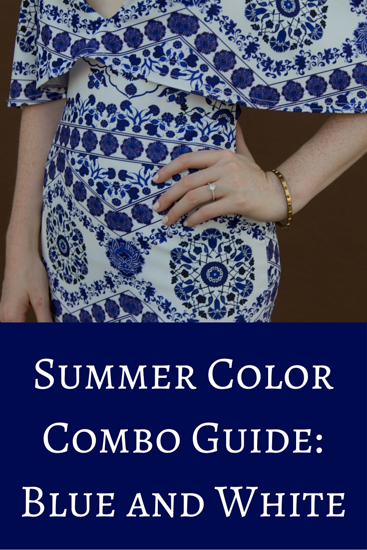 blue and white dress, missguided, nordstrom, summer style, summer color combo guide: blue and white