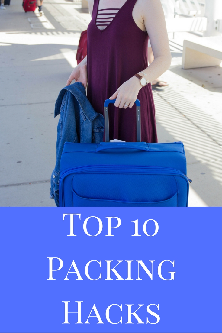 Delsey Chatillon Luggage, What is the best luggage to use for travel, nordstrom strappy tank dress, levi's denim jacket, kendra scott elton cuff, sophee earrings, daniel wellington watch, san francisco, california, packing hacks, top 10 packing hacks