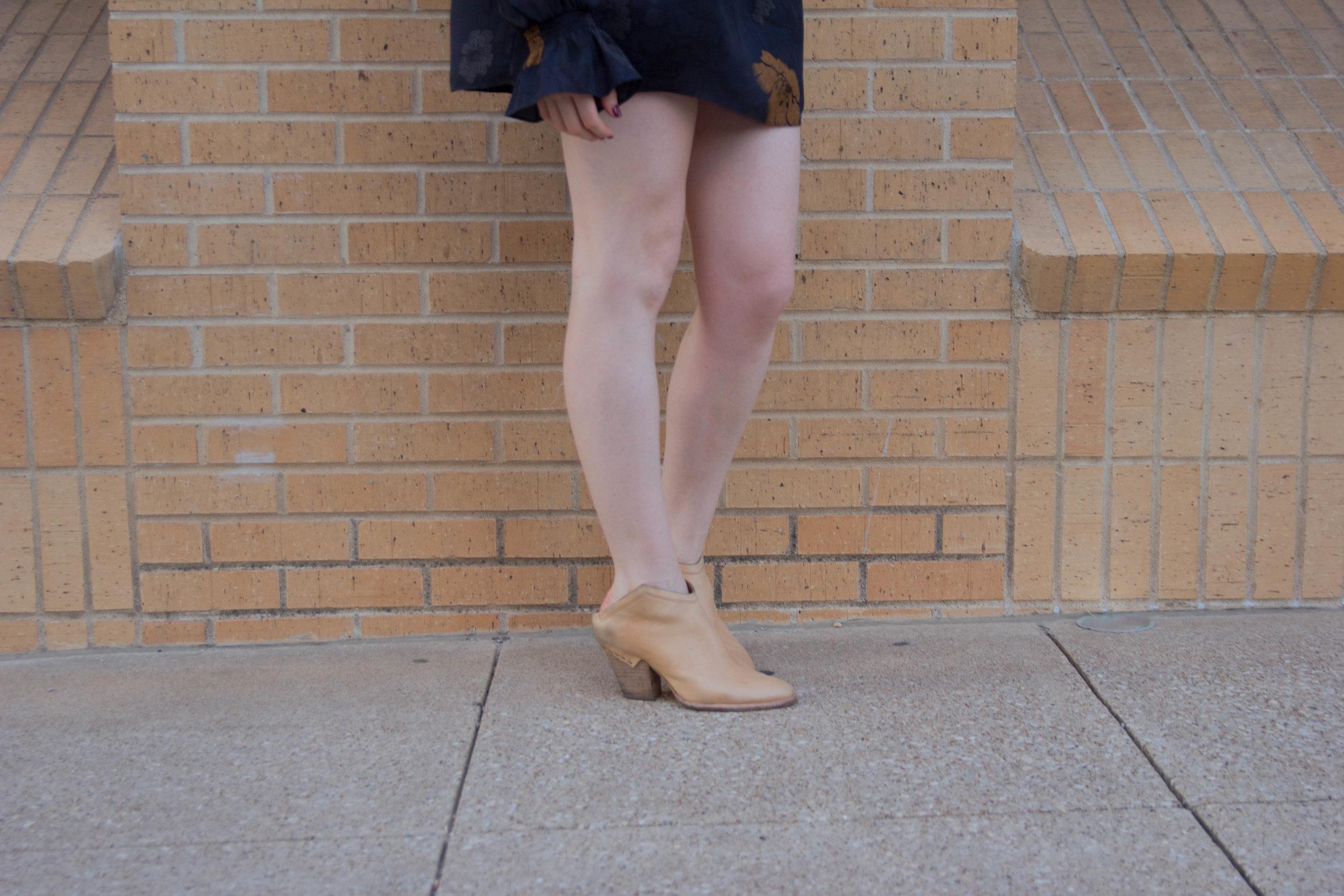 chelsea28 drop waist dress, navy floral, kendra scott sophee earrings, dolce vita haku booties, cost per wear analysis, are those $200 shoes worth it, cpw