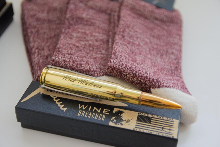 wine breacher, bottle breacher, shark tank, bullet bottle opener, socks, groomsmen gifts, what to give to your groomsmen, how to choose groomsmen gifts, unique groomsmen gift ideas