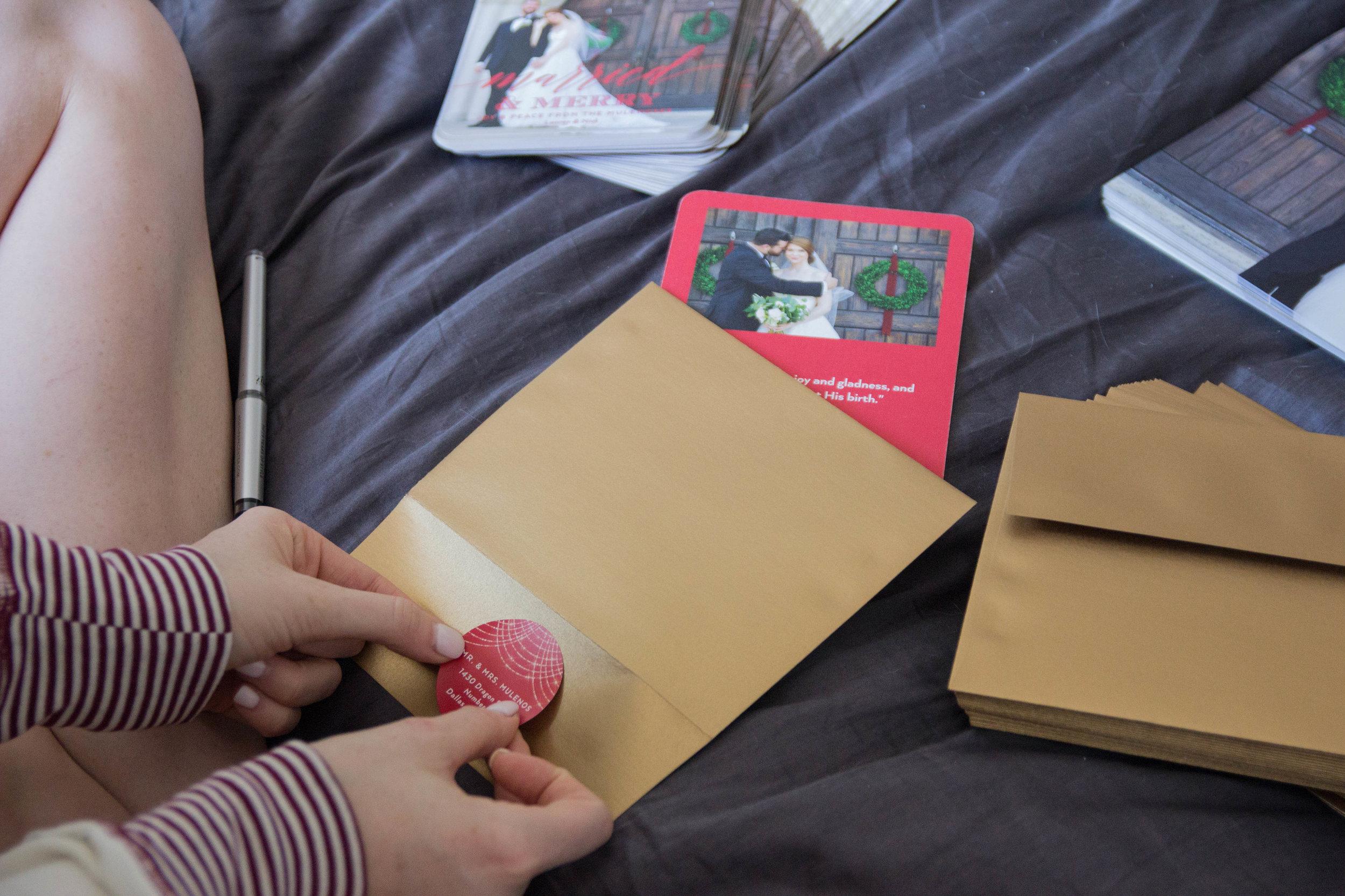 tiny prints, newlywed christmas cards, online christmas card shop, wedding photo cards, parachute home bedding, reindeer pajamas, photo envelope liner, fuzzy pillows, california king bed, always choose joy mug
