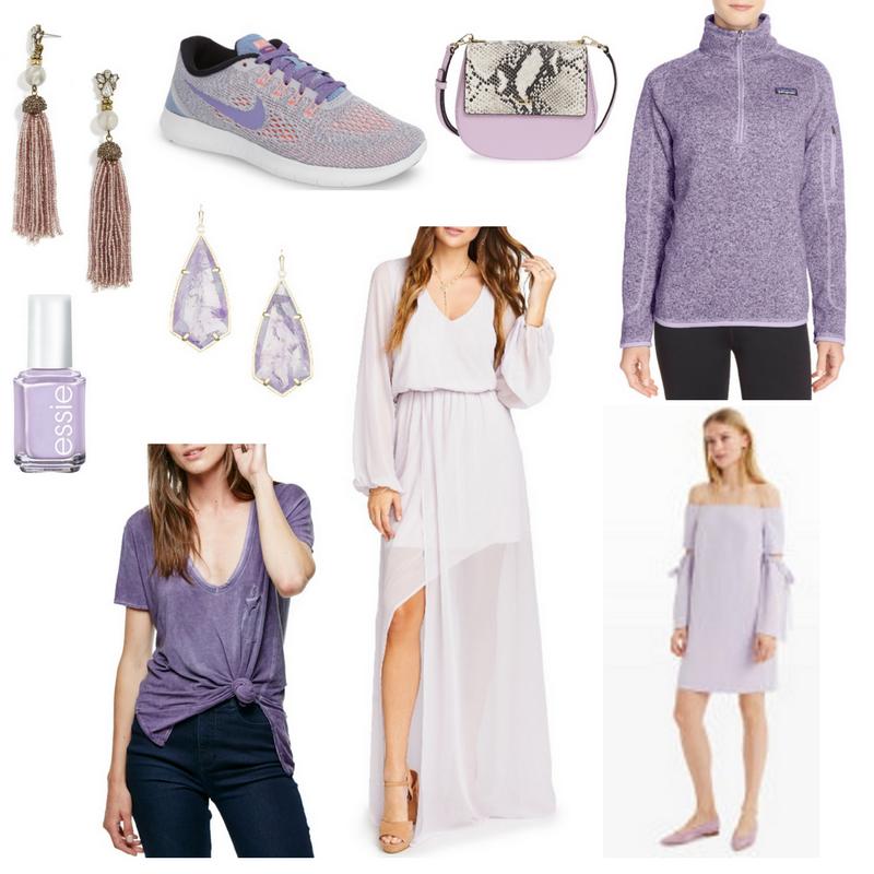 lavender, american eagle lavender skinny jeggings, chambray shirt, baublebar earrings, dolce vita haku booties, color crush
