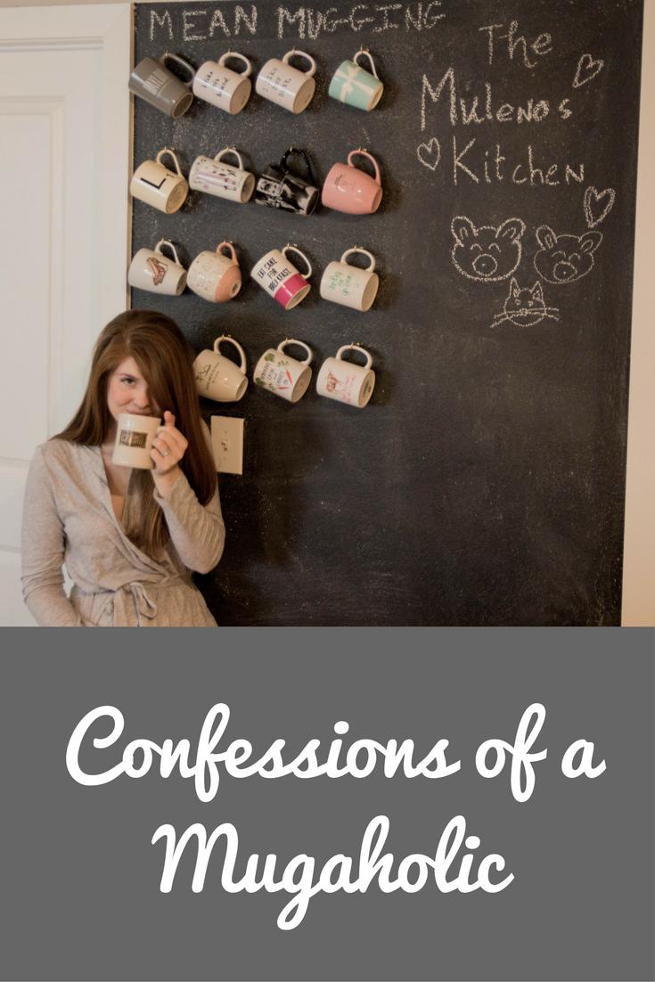 chalk board wall, mug wall, community coffee, aerie robe, confessions of a mugaholic