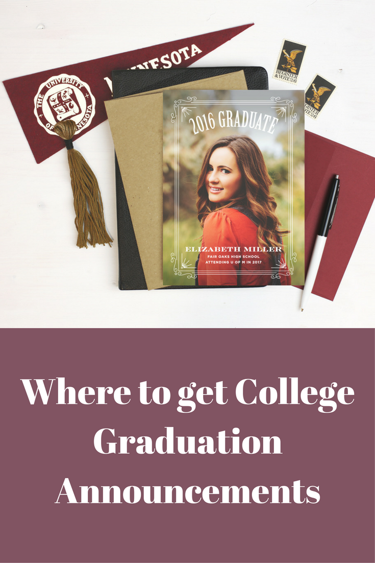 basic invite, where to get college graduation announcements, picture graduation cards, baylor graduate, paper company, thank you cards