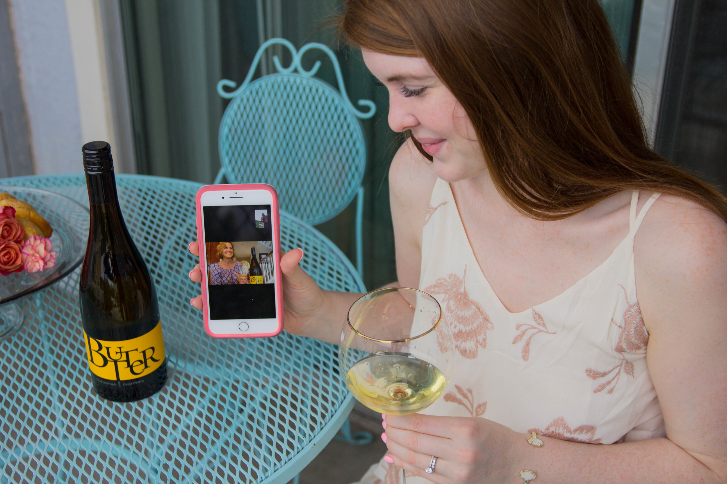 JaM Cellars Butter Chardonnay, Napa Wine, mother's day, cheers to mother in laws, bed bath and beyond tall wine glasses, lemon pound cake, the perfect mother in law gift, kendra scott elton bracelet, otterbox