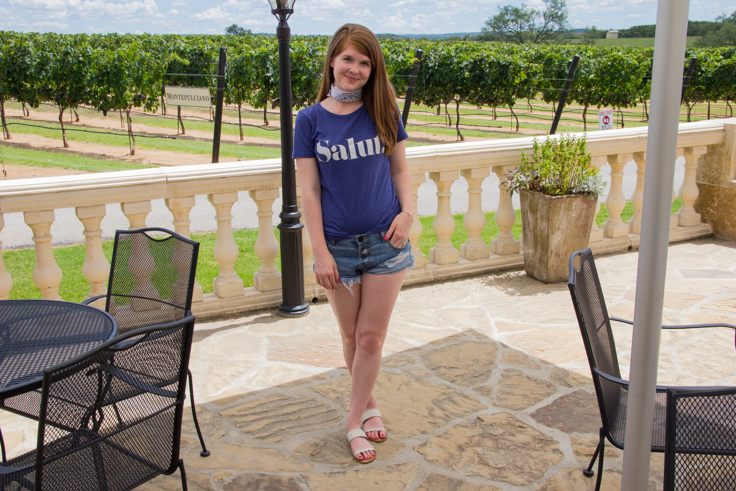 group trip to fredericksburg, texas hill country, what to do in fredericksburg, texas wineries, luckenbach texas, texas road trips, j crew salut tee, grapecreek