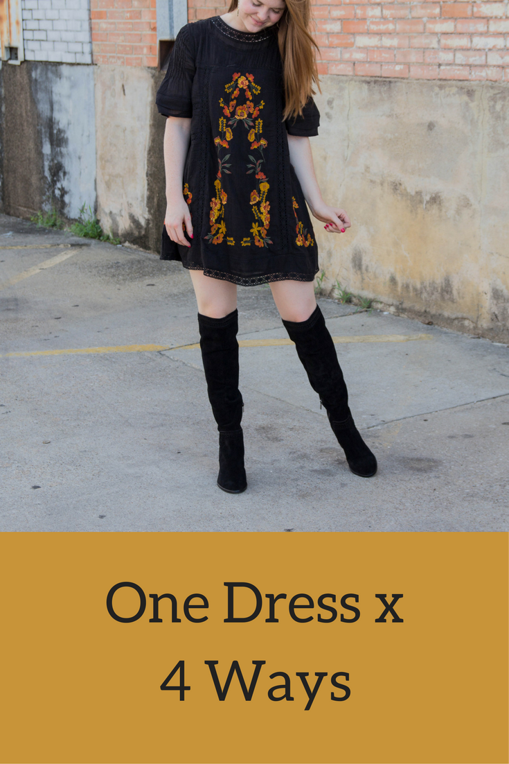 free people perfectly minidress, vince camuto madolee over the knee bootie, the art of versatility