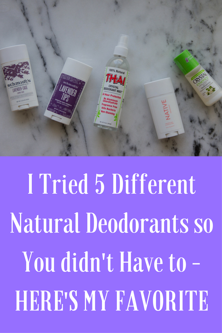 natural deododrant, what natural deodorant to use, what is the best natural deodorant, deodorant without aluminum, deodorant without baking soda, schmidt's, thai crystal, crystal, native