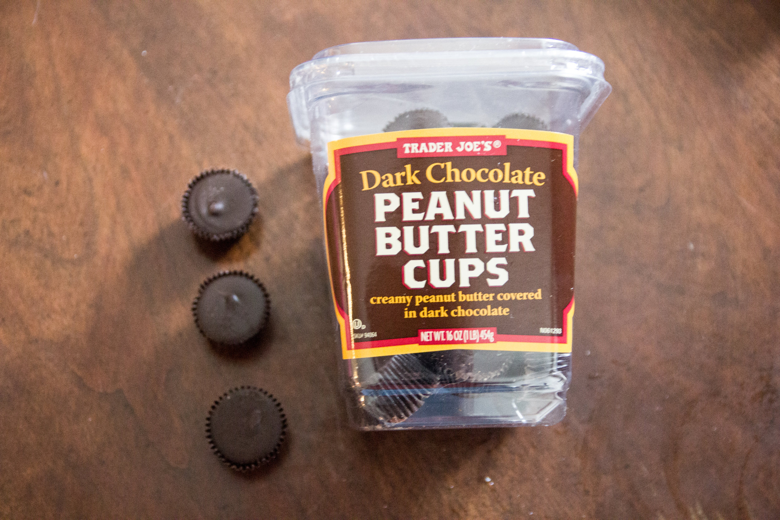best things to buy from trader joe's, what to buy from trader joe's, favorite 13 items from Trader Joe's,  dark chocolate peanut butter cups