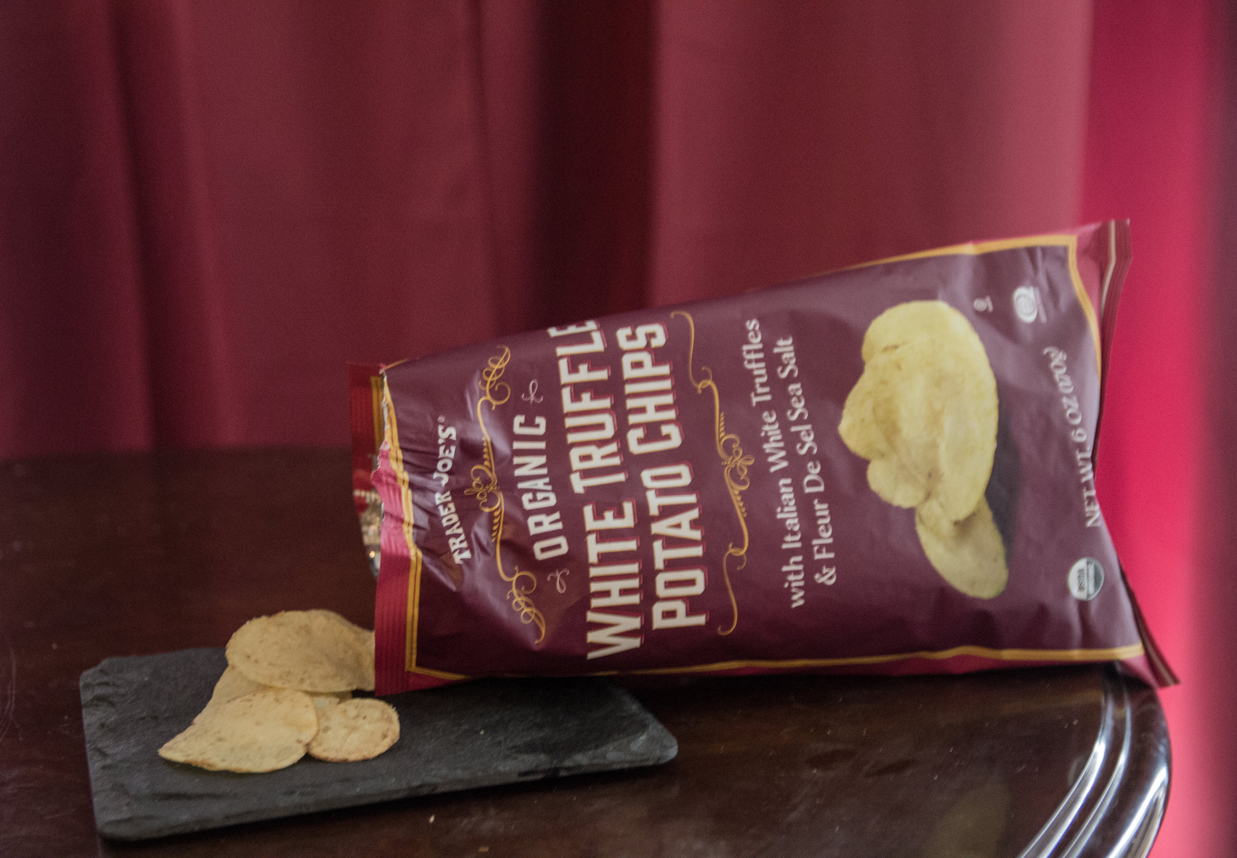 best things to buy from trader joe's, what to buy from trader joe's, favorite 13 items from Trader Joe's,  white truffle potato chips