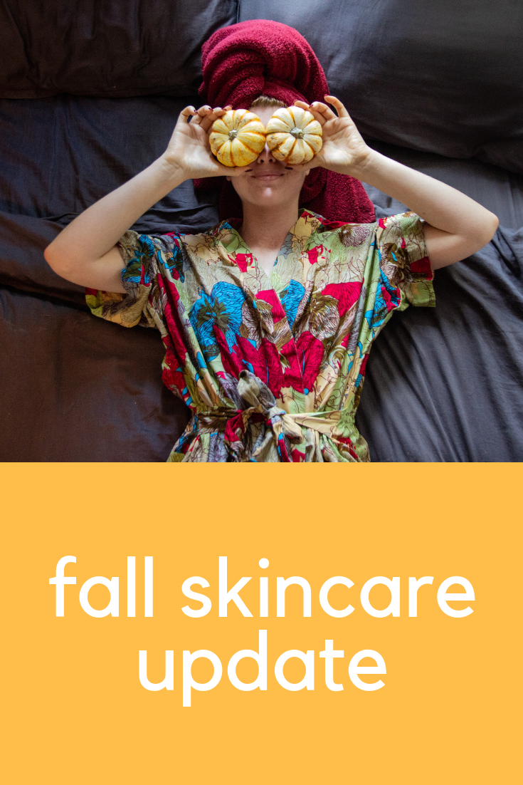 fall skincare update, cruelty-free and nontoxic skincare, how to prep your skin fo fall weather, sudara robe, one love organics, parachute home, herbivore botanicals, primally pure, biossance