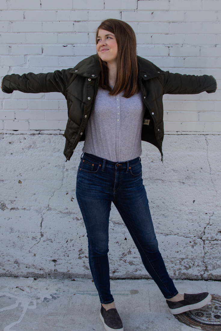 """budget puffer jacket, Maralyn & Me Shiny Crop Puffer Jacket 
