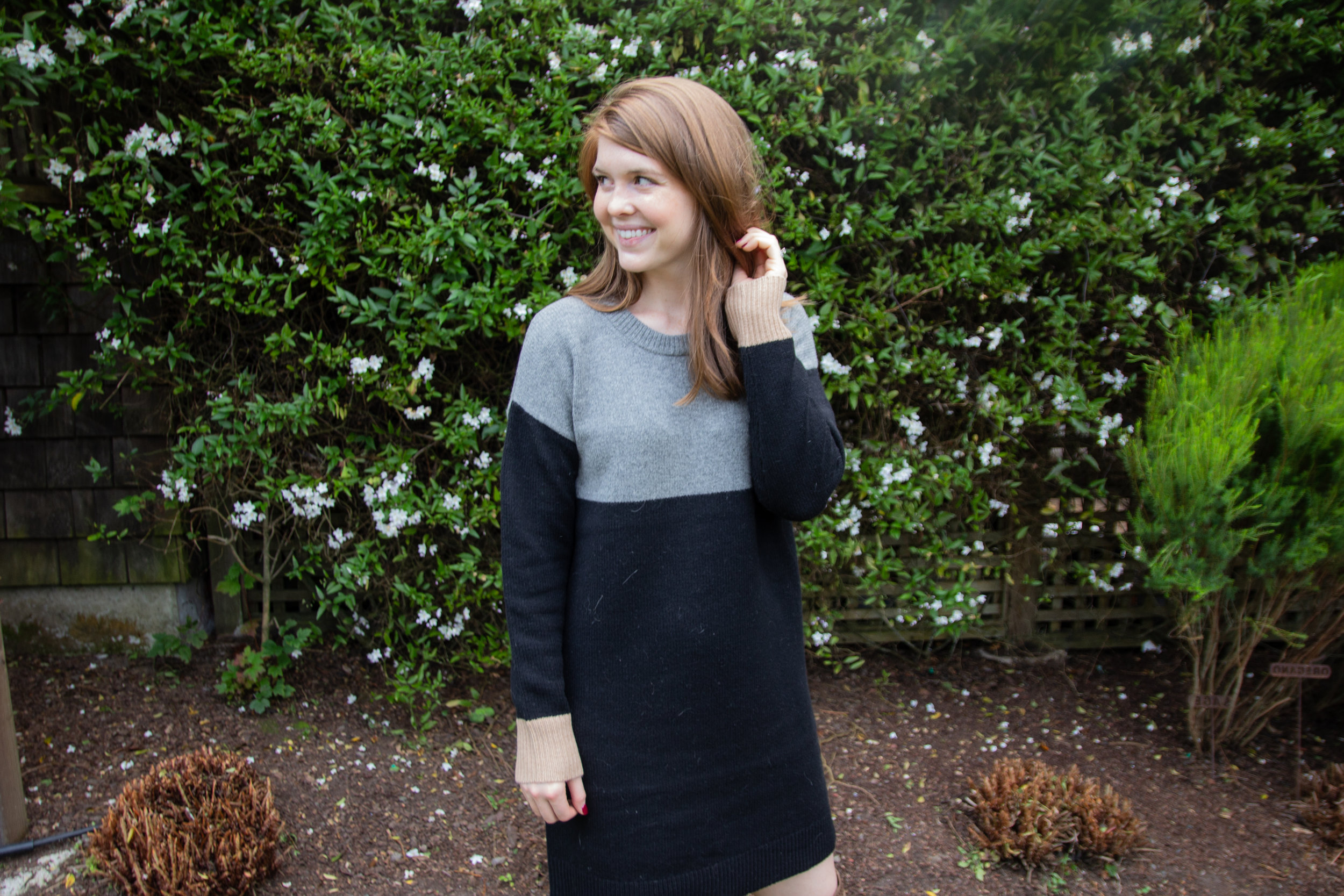 where to stay in mendocino, brewery gulch inn, bnb, romantic places to stay in mendo, central coast roadtrip, visit california, madewell colorblock sweater dress