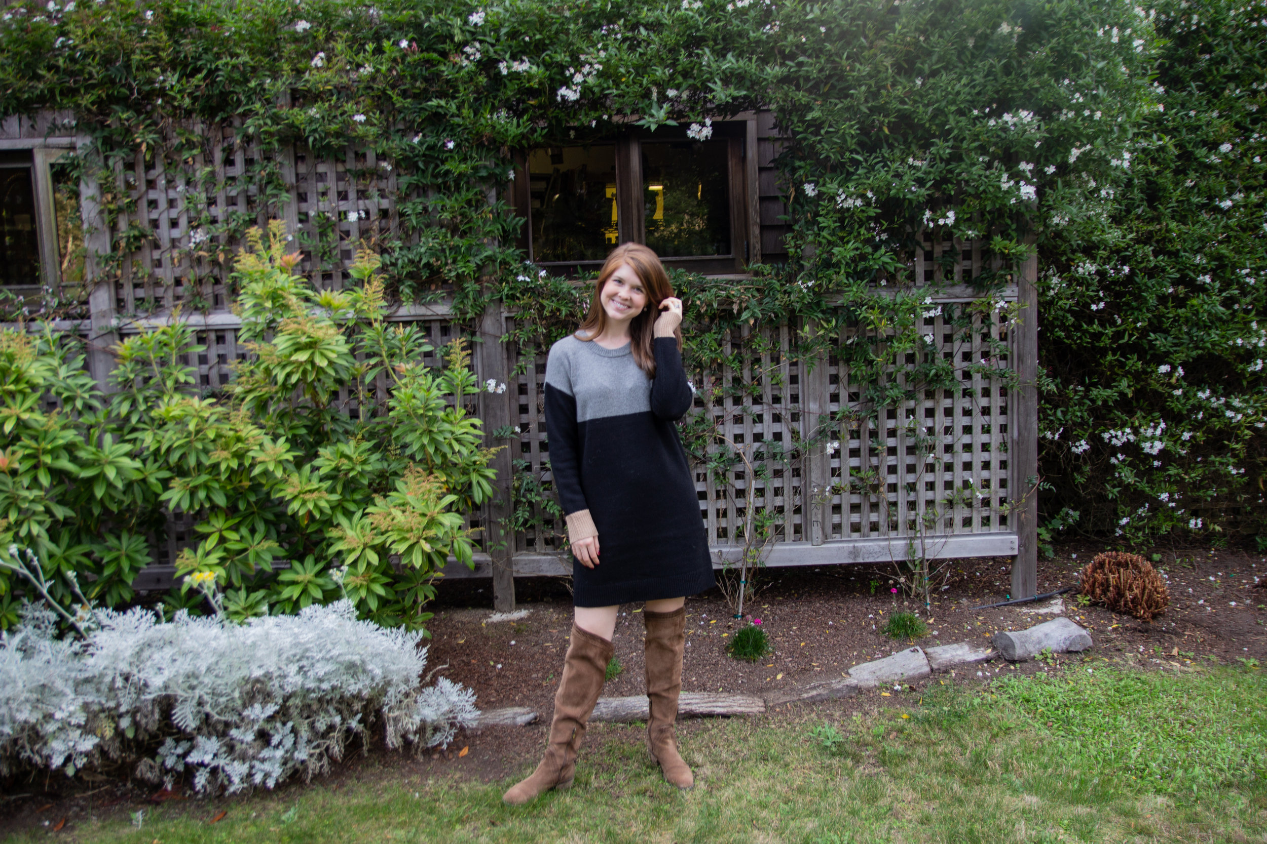 where to stay in mendocino, brewery gulch inn, bnb, romantic places to stay in mendo, central coast roadtrip, visit california, madewell color block sweater dress